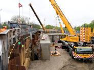 Augsburg: Träger für Ackermann-Brücke muss nach Unfall neu angefertigt werden