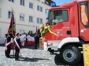Bildergalerie: Biberbacher Feuerwehr feiert Fahrzeugsegnung