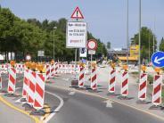 Verkehrsbehinderungen: Die Bürgermeister-Ulrich-Straße ist gesperrt