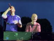 München: Mit Coldplay auf der Bühne: Wie der 19-jährige Fan den Moment erlebte