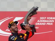Formel 1: Ricciardo siegt im Chaos von Baku - Vettel rammt Hamilton