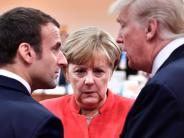 Ministerrat: Spitzentreffen in Paris: Macron empfängt erst Merkel, dann Trump