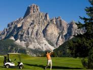 Dolomiten: In den italienischen Dolomiten kommen Golfer auf ihre Kosten