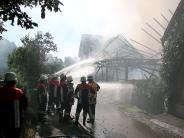 Kreis Augsburg: Stadel brennt in Dinkelscherben nieder: 150.000 Euro Schaden