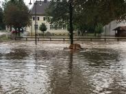 Bildergalerie: Überflutete Keller und Straßen in Otting