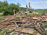 Harburg-Ebermergen: Hagelsturm zieht an Ebermergen vorbei