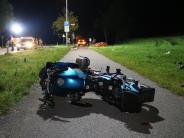 Immenstadt: Motorrad schleudert in Familie - Mutter, zwei Kinder und Fahrer sterben