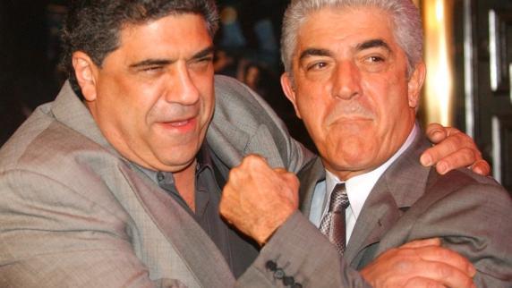 Der nun gestorbene Schauspieler Frank Vincent und Vincent Pastore bei der Premiere der 5.
