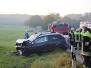 Unterallgäu: Fahranfänger gerät auf Gegenfahrbahn - drei Verletzte