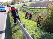 Kreis Donau-Ries: Tödlicher Unfall: Motorradfahrer erschreckt sich und stürzt