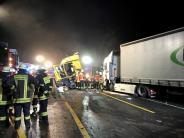 Landkreis Aschaffenburg: Drei Tote bei Unfall im Spessart - A3 gesperrt