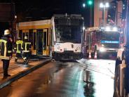 Bildergalerie: Tram entgleist auf Gögginger Brücke