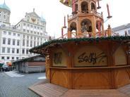 Augsburg: Unbekannte besprühen Buden am Christkindlesmarkt