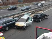 Senden/Hittistetten: Schwerer Unfall auf A7: Autofahrer wollte rechts überholen