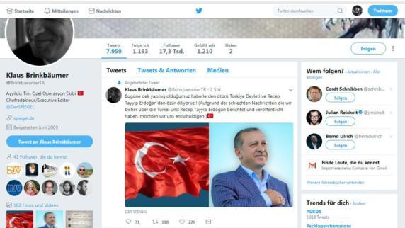 Account von Spiegel-Chefredakteur gehackt