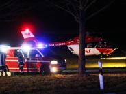 Alerheim: Mann und Kind bei Unfall schwer verletzt