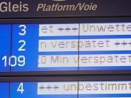 «Bahn kann nichts dafür»: Bahnreisende nehmen Sturm-Zwangspause gelassen