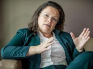 SPD: Andrea Nahles wird wohl sofort kommissarische Parteivorsitzende der SPD