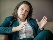 Analyse: Die Trümmerfrau derSPD - Andrea Nahles unter Druck