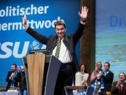 Politischer Aschermittwoch: Söder-Show, SPD-Wirren und eine «Wir-schaffen-das»-Kanzlerin