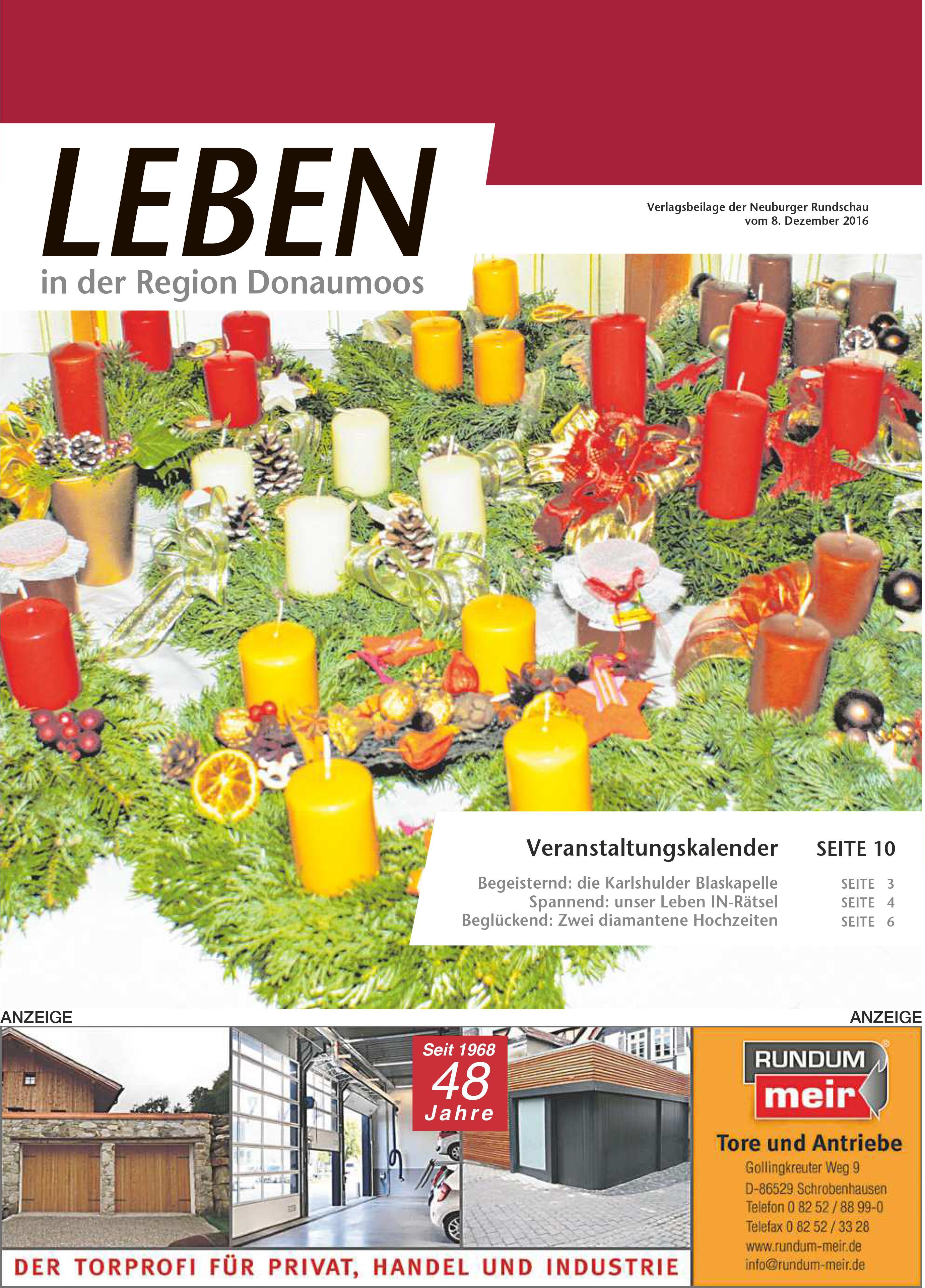 08.12.2016: Leben In: Donaumoos