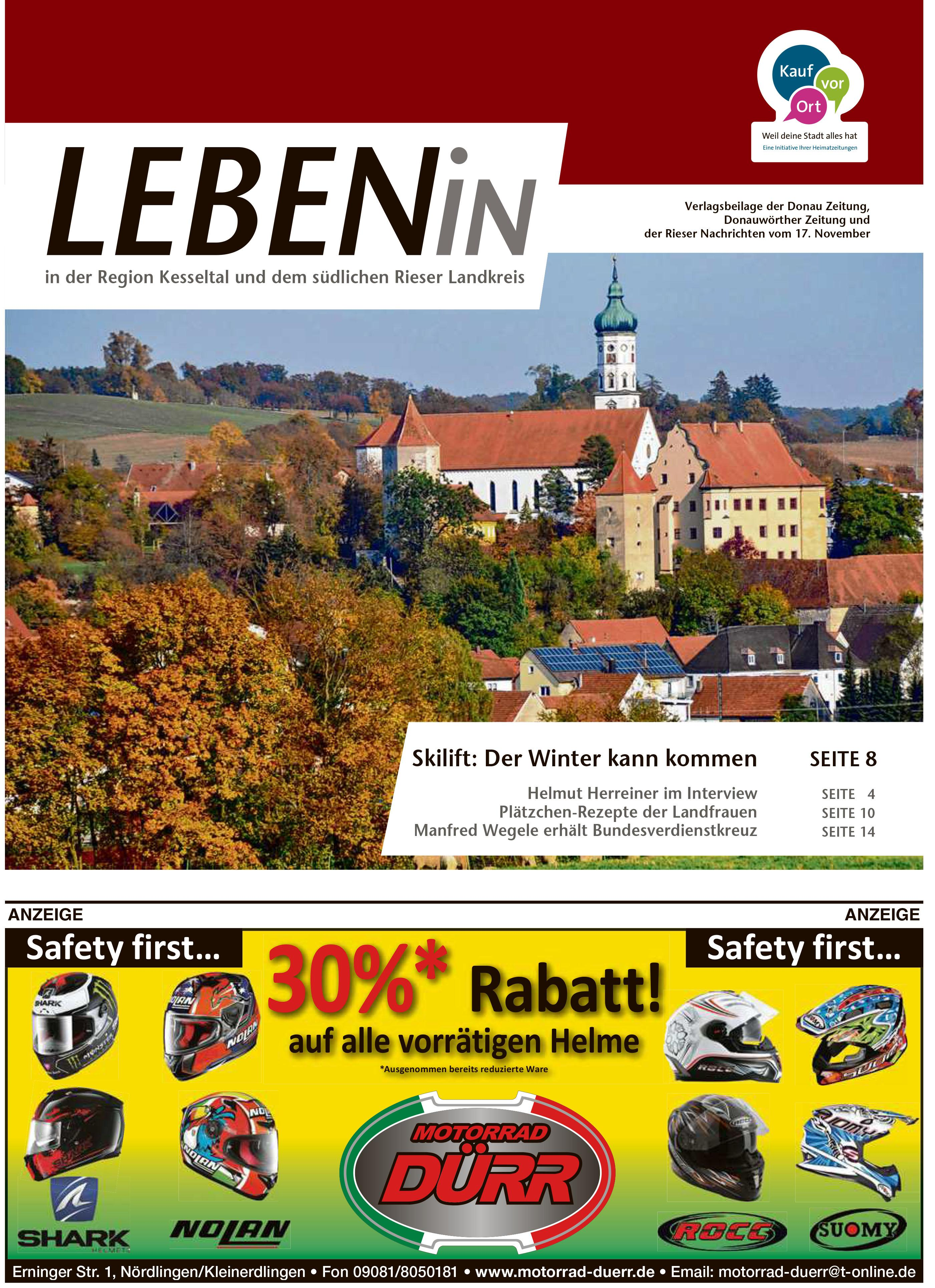 17.11.2017: Leben In: Für die Region Kesseltal und dem südlichen Rieser Landkreis