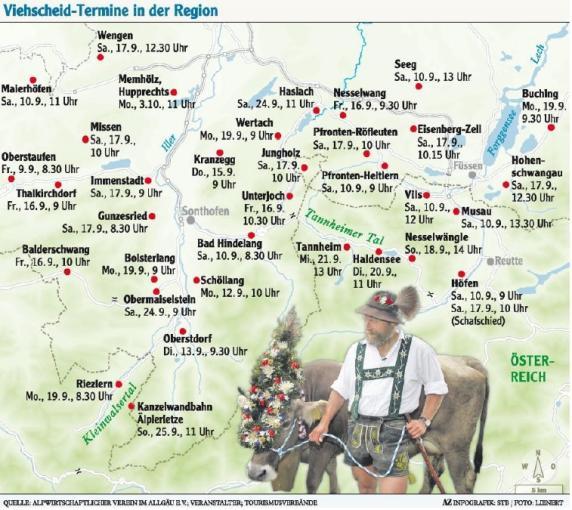 Balderschwang Im Allgäu: Viehscheid 2016: Heute Geht's Los: Alle Termine Für Den