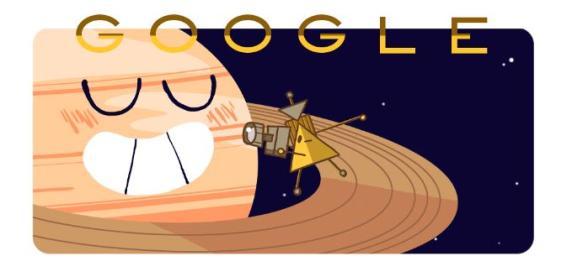 Google doodle posvećen letjelici Cassini