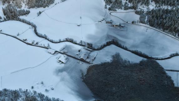 Massiver Felssturz in Vals