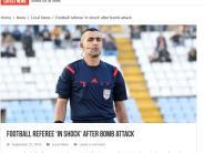 Fußball: Bombenanschlag auf Schiedsrichter in Zypern
