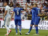 Spanien 2:2 gegen Kolumbien: Italien gewinnt Testspiel gegen Uruguay 3:0