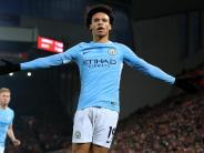 Verletzung: Sané bei Manchesters Sieg gegen Cardiff verletzt