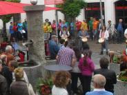 Krumbach: Musik mitten auf dem Marktplatz
