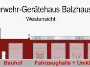 Balzhausen: Balzhauser Feuerwehrhaus wird in Rot verkleidet