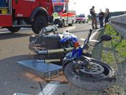 Thannhausen: Frau wird bei Motorradunfall schwer verletzt