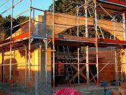 Memmenhausen/Aichen: Rohbau des neuen Leichenhauses nimmt bereits Formen an