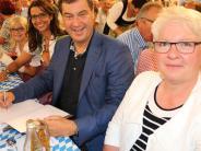 """Wahlkampf: Ein weißblaues """"Heimspiel"""" für Markus Söder"""