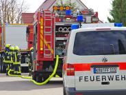 Krumbach: Am Lettenberg tritt Gas aus beschädigter Leitung aus