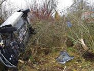 Seifertshofen/Nattenhausen/Thannhausen: Auto überschlägt sich – Fahrerin wird leicht verletzt