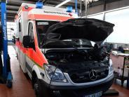 Region: Warum Rettungswagen jetzt häufiger in die Werkstatt müssen