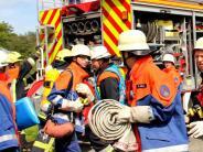 Feuerwehr: Dieses Mal mussten nur Puppen gerettet werden