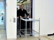 Landsberg: Nur ohne Schuhe in den Aufzug