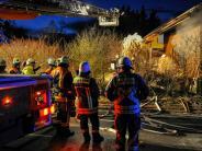 Pürgen: Feuer richtet großen Schaden an