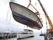 Stegen: Umzug der MS Utting: Ein Motorschiff geht auf Reisen