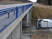 Polizei: Kleintransporter hebt ab