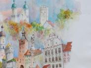 Landsberg: Der eine schreibt, der andere malt