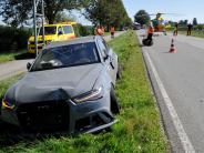 Hurlach: Audi bei Probefahrt geschrottet