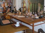 Region Landsberg: Ein Tischchen, an dem auch Schröder saß