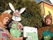 Kontaktsuche zumOsterhasen: Osterwünsche per Post - Meister Lampe im Stress