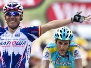 : Contador attackiert - Schleck verliert Zeit